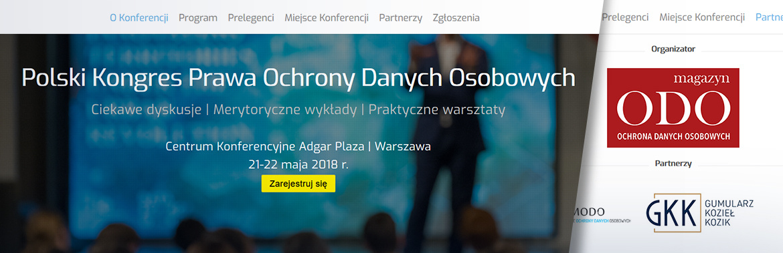 GKK partnerem Polskiego Kongresu Prawa Ochrony Danych Osobowych