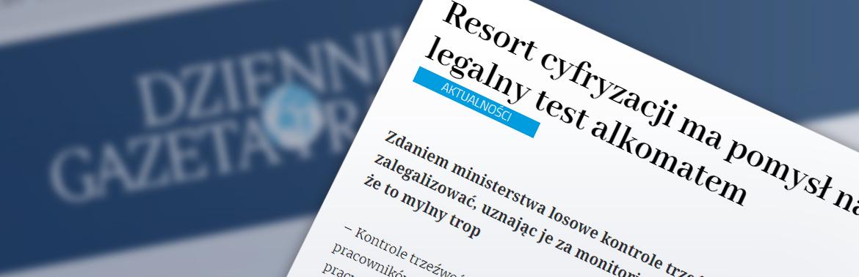 Badania trzeźwości – komentarz GKK w Dzienniku Gazecie Prawnej