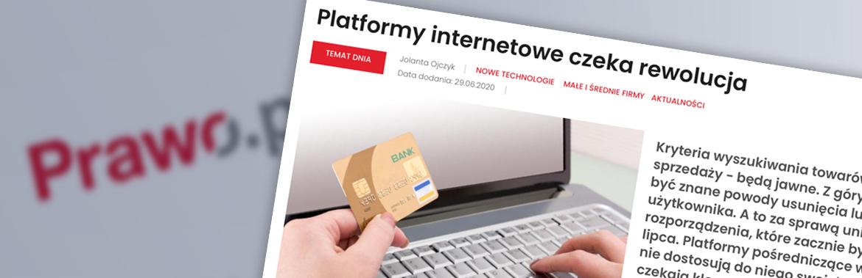 12.07.2020 wchodzą nowe unijne przepisy o platformach internetowych (pośrednictwa)
